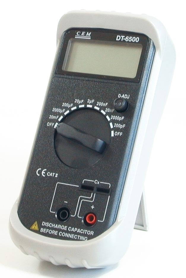 CEM DT-6500 Professional Digital High Accuracy Capacitance Meter 0.1 pF to 20 mF