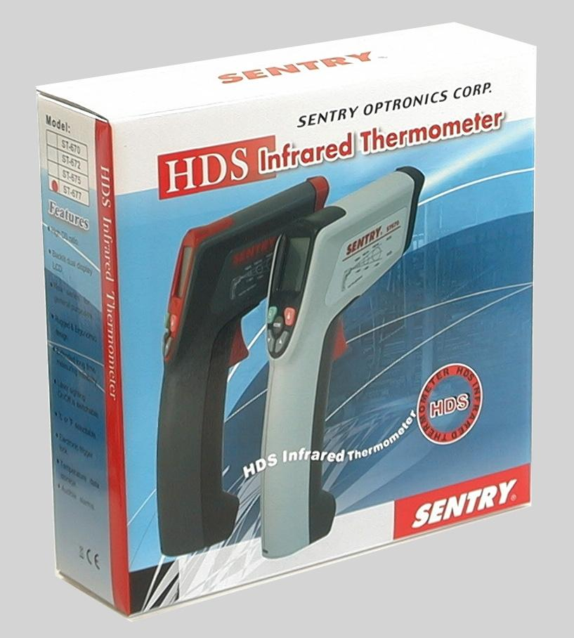 Sentry ST-677 NIST Professional 50:1 IR Laser Thermometer