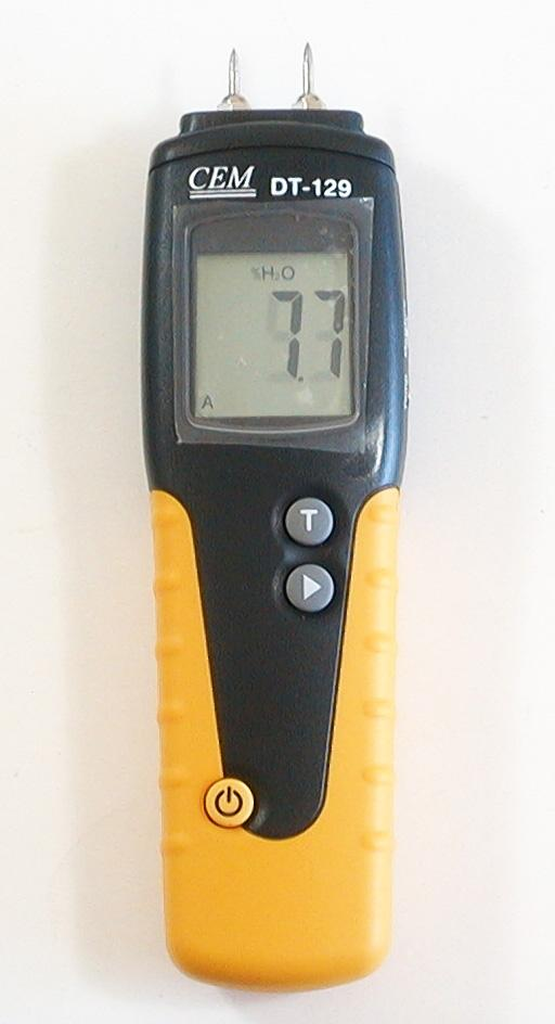 lcd panel view wood moisture meter