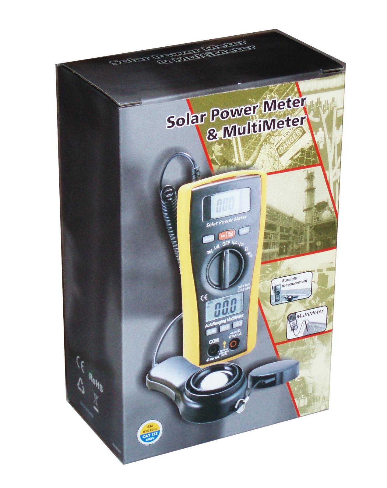 RE LA-1017 Sun Power Solar Energy Sunlight Meter with DMM Digital Multimeter