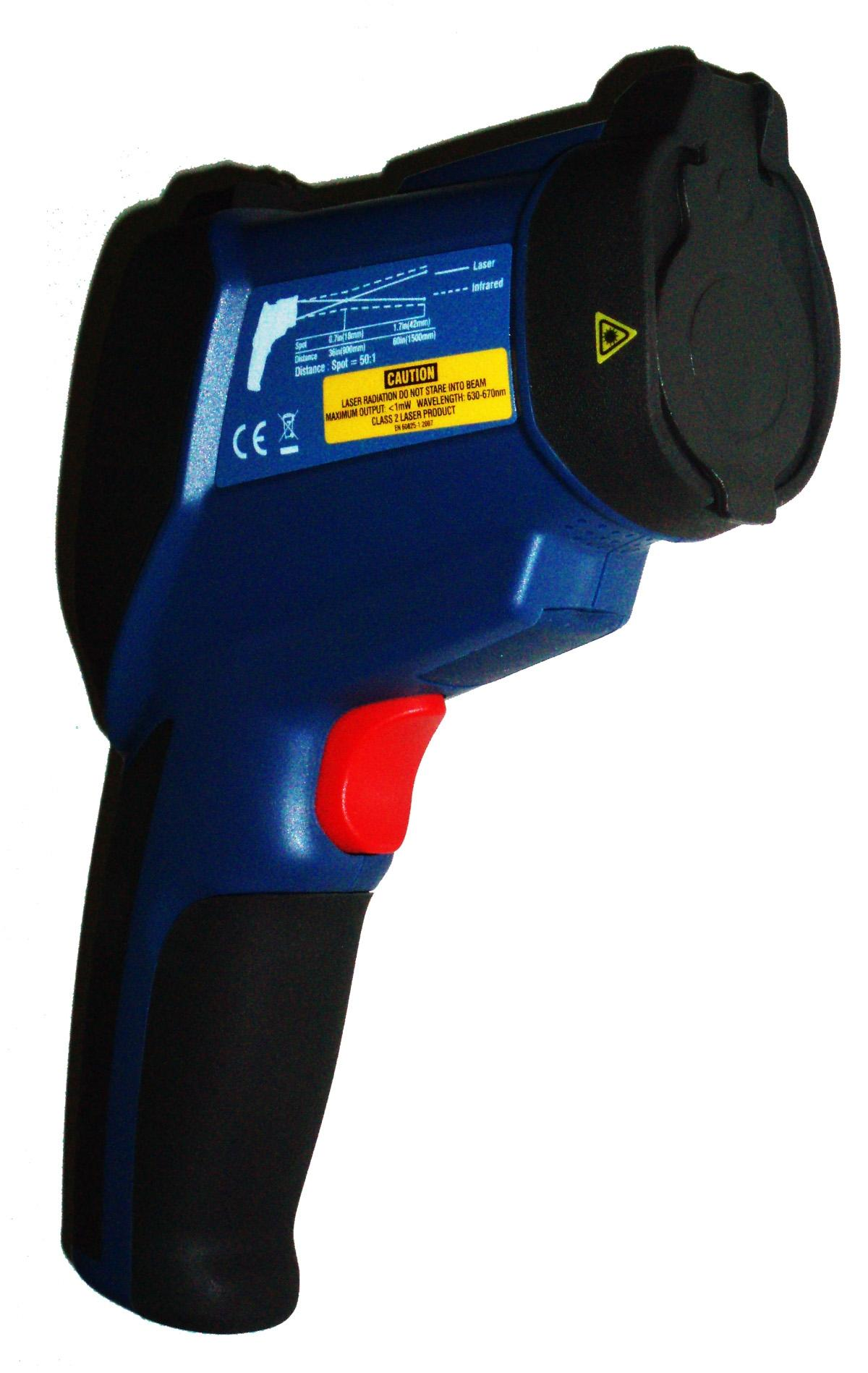 DT-9862 Professional 50:1 IR Dual Laser Video Thermometer up to 3992 deg F 2200 deg C Type K Thermocouple Air Dew Point Wet Bulb Temp and Air Humidity Meter with Camera and USB Port