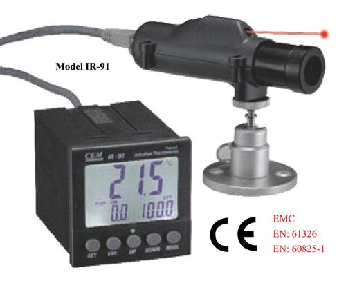 CEM IR-91 Industrial 50:1 Panel IR Laser Thermometer