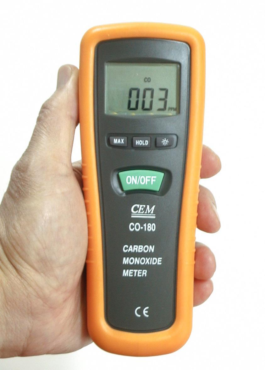 co handheld monoxide meter