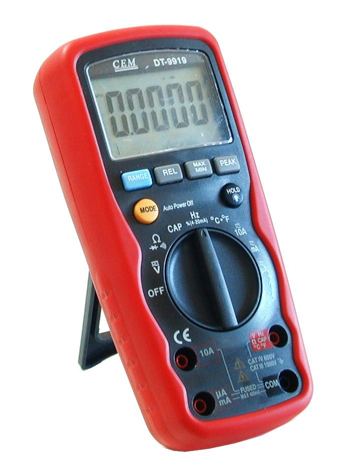 High Frequency Voltmeter : Cem dt industrial digit true rms waterproof digital