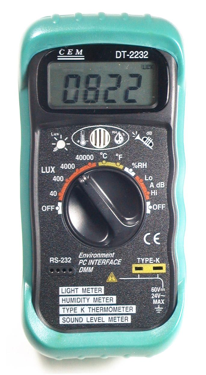 industrial light sound temperature meter humidity